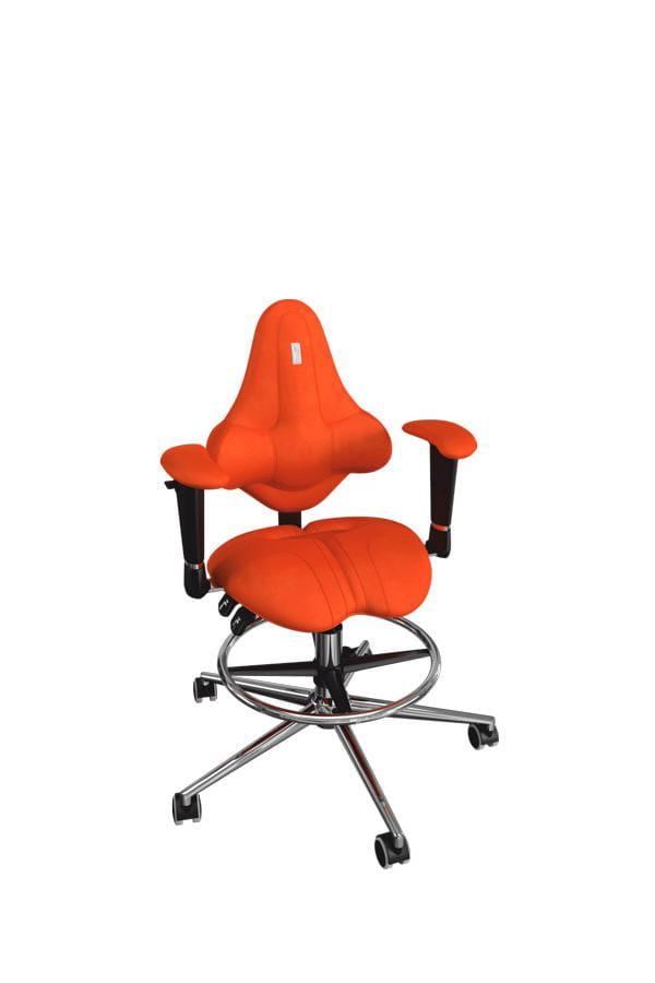 Кресло Kulik System Kids с материалом Антара Металл Оранжевый Серебро
