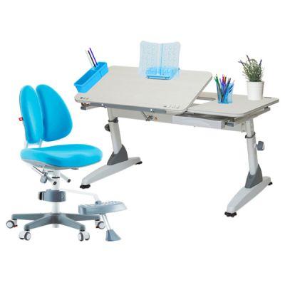 Комплект TCT Nanotec Парта M6-S с ортопедическим креслом Orto-Duo и прозрачной накладкой на парту 65х45