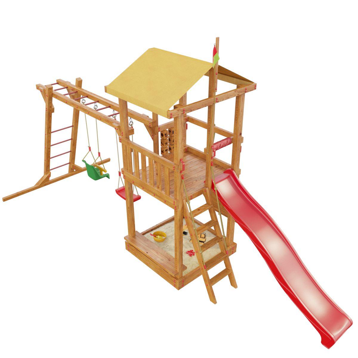 Детская площадка «Мадагаскар» песочница бассейн marian plast palplay лодочка желтый 308