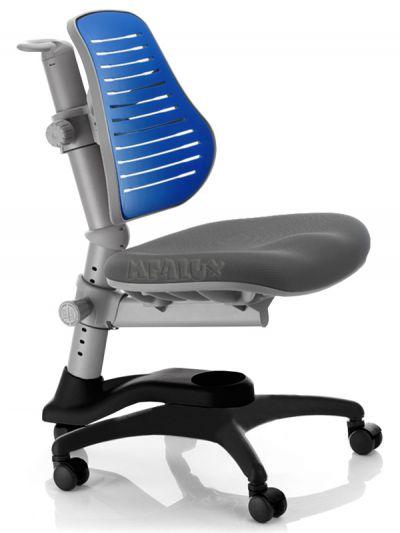 Комплект ДЭМИ Парта СУТ-25-01Д WHITE DOUBLE с раздельной столешницей с креслом Oxford C3 и прозрачной накладкой на парту 65х45