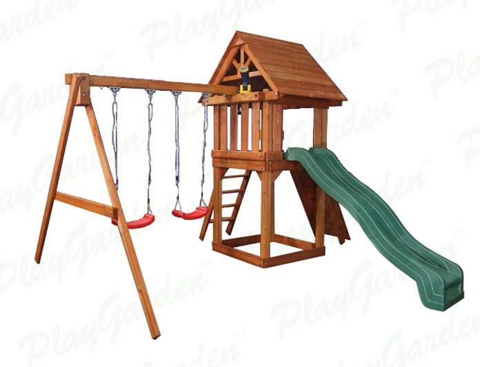 Детская игровая площадка PlayGarden Green Hill Массив дерева Массив Кипариса playgarden игровая площадка original castle с пентхаусом