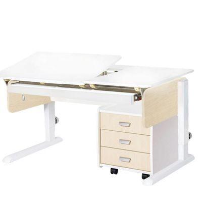 Комплект Астек Парта ЛИДЕР с выдвижным органайзером и тумбой со стулом SF-3 и прозрачной накладкой на парту 65х45