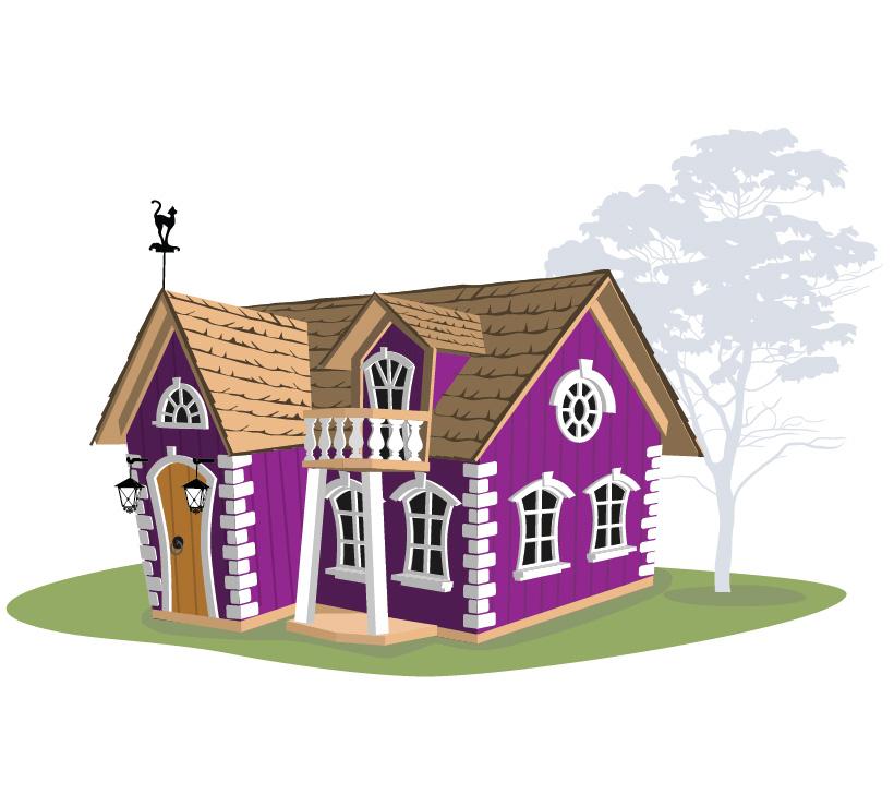 Детский игровой домик из дерева Crooked Домик Рокси Массив
