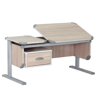 """Комплект ДЭМИ Парта """"Ученик"""" сут-29 с креслом Neapol и прозрачной накладкой на парту 65х45"""