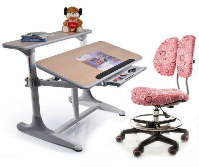 Комплект Mealux Стол Shubert с креслом Simba и прозрачной накладкой на парту 65х45