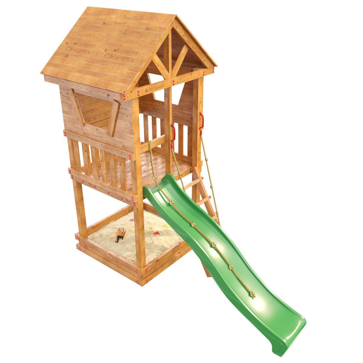Детская площадка Сибирика Башня поручни