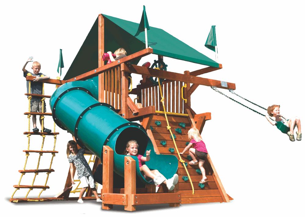 Фото - Детская игровая площадка Rainbow Саншайн Кастл I СпейсСейвер Тент Массив дерева Кедр бинокль
