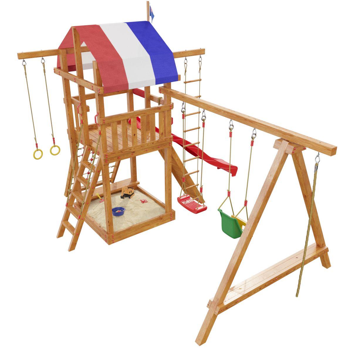 Детская игровая площадка Самсон Тасмания Массив дерева Сосна цена
