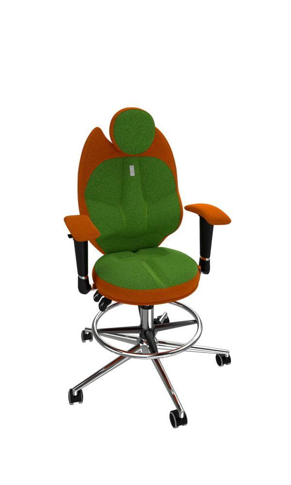 Кресло Kulik System Детское кресло Kulik Trio (материал Азур, отделка DuoColor) кресло kulik system офисное кресло kulik elegance материал азур 3d подголовник