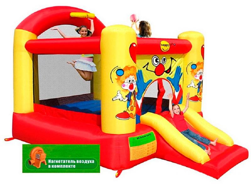 Надувной комплекс Happy Hop 9304Y Клоун ПВХ Смешанный happy hop надувной батут клоун 9304y