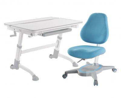 Комплект FunDesk Парта-трансформер Volare с креслом Primavera I и прозрачной накладкой на парту 65х45