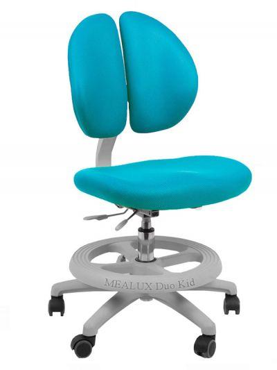 Комплект ДЭМИ Парта СУТ-17-04 120х80 см с креслом Duo Kid mini и прозрачной накладкой на парту 65х45