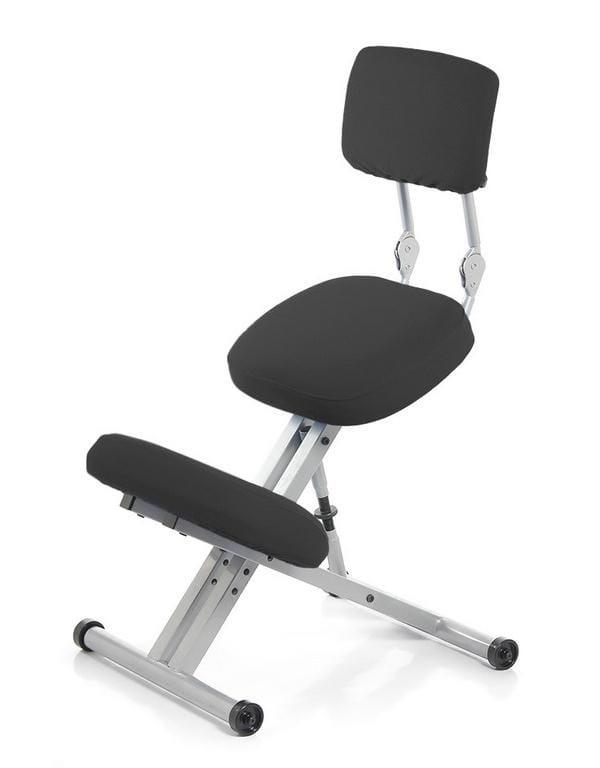 Металлический коленный стул Smartstool KM01BM со спинкой smartstool balance