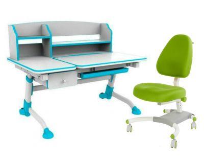 Комплект FunDesk Парта-трансформер Amare II с ящиком с креслом Ottimo и прозрачной накладкой на парту 65х45