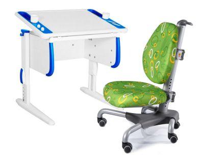Комплект ДЭМИ Парта Techno СУТ 26 с креслом Nobel и прозрачной накладкой на парту 65х45