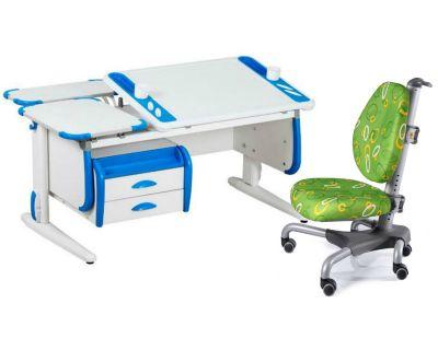 Комплект ДЭМИ Парта Techno СУТ 31-04 с креслом Nobel и прозрачной накладкой на парту 65х45