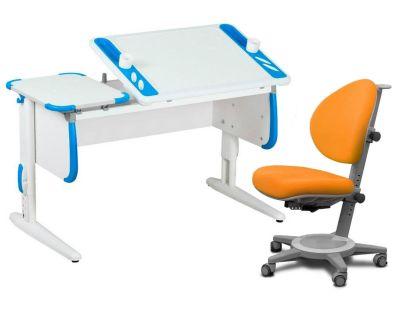 Комплект ДЭМИ Парта Techno СУТ 31 с креслом Cambridge и прозрачной накладкой на парту 65х45
