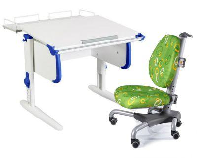 Комплект ДЭМИ Парта WHITE СТАНДАРТ СУТ-24-01 с креслом Nobel и прозрачной накладкой на парту 65х45