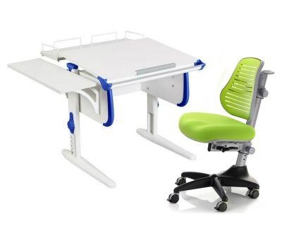 Комплект ДЭМИ Парта WHITE СТАНДАРТ СУТ-24-02 с креслом Conan и прозрачной накладкой на парту 65х45