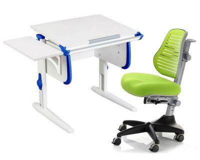 Комплект ДЭМИ Парта WHITE СТАНДАРТ СУТ-24К с креслом Conan и прозрачной накладкой на парту 65х45