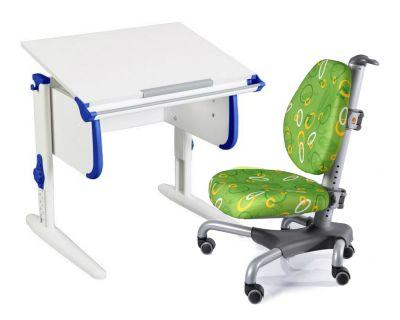 Комплект ДЭМИ Парта WHITE СТАНДАРТ СУТ 24 с креслом Nobel и прозрачной накладкой на парту 65х45