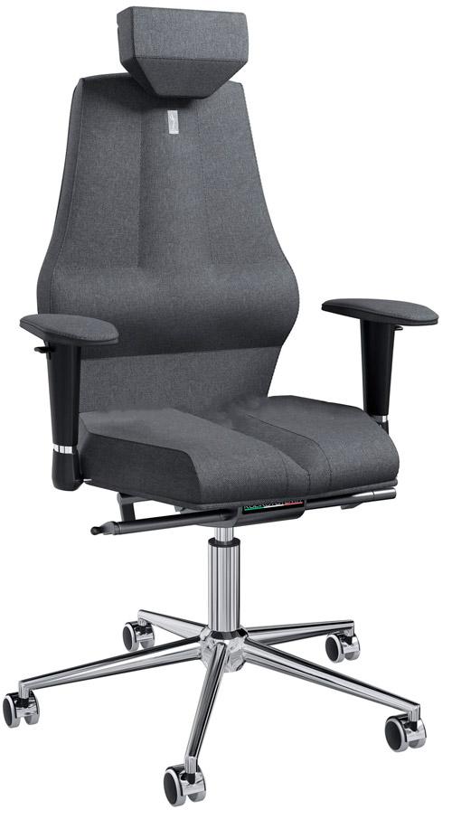 Офисное кресло Kulik System Nano с материалом Азур и 3D подголовником Металл Серый Серебро офисное кресло kulik monarch материал азур инд прошивка aristo 3d подголовник