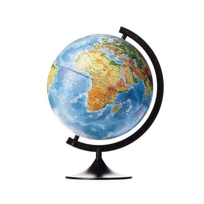 ГеоДом Глобус Земли физико-политический 320 мм с подсветкой Классик геодом глобус земли зоогеографический с подсветкой 210 мм классик