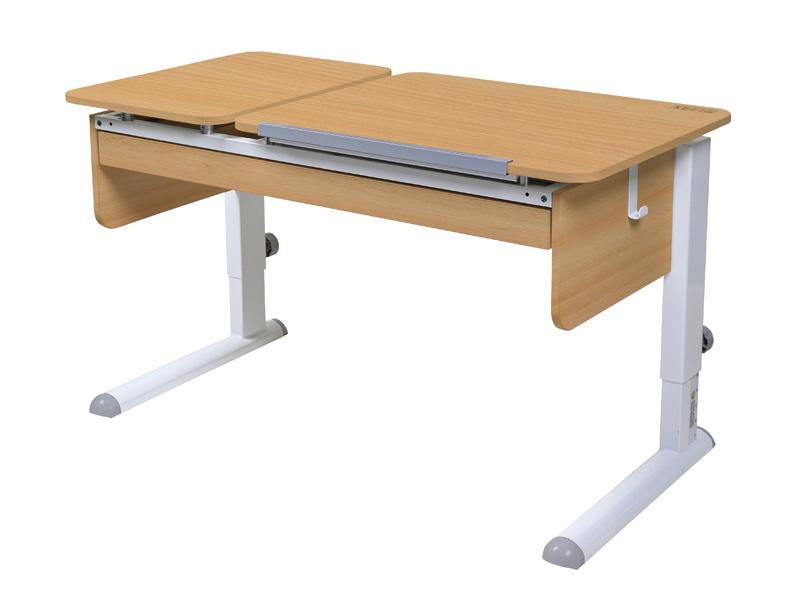Домашняя парта Астек ТВИН-2 с органайзером ЛДСП Бук Белый столы и стулья астек стол твин 2 столешница бук