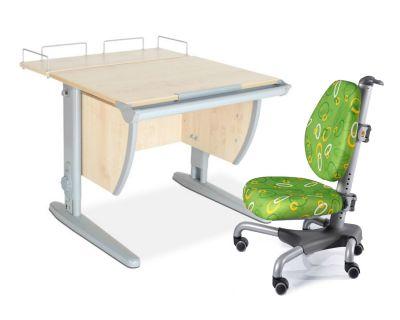 Комплект ДЭМИ Парта СУТ-14-01 75х55 см с задней приставкой с креслом Nobel и прозрачной накладкой на парту 65х45