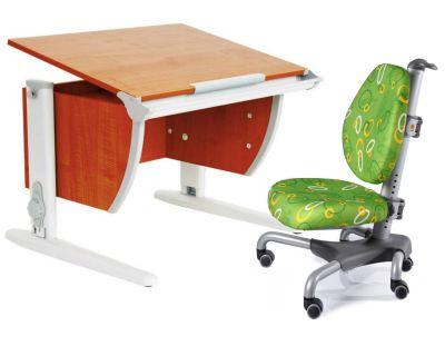 Комплект ДЭМИ Парта СУТ-14 75х55 см с креслом Nobel и прозрачной накладкой на парту 65х45