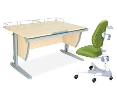 Комплект ДЭМИ Парта СУТ-15-01 120х55 см с креслом Champion и прозрачной накладкой на парту 65х45