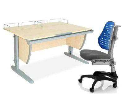 Комплект ДЭМИ Парта СУТ-15-01 120х55 см с креслом Oxford C3 и прозрачной накладкой на парту 65х45