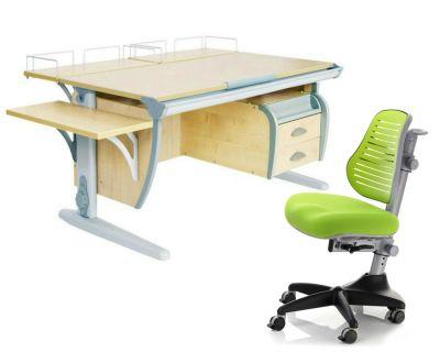 Комплект ДЭМИ Парта СУТ-15-05 120х55 см с креслом Conan и прозрачной накладкой на парту 65х45