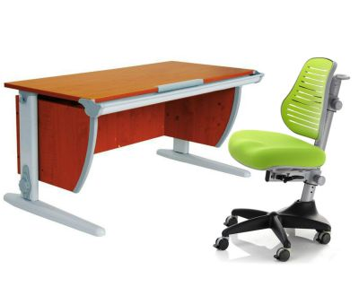 Комплект ДЭМИ Парта СУТ-15 120х55 см с креслом Conan и прозрачной накладкой на парту 65х45