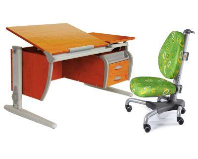 Комплект ДЭМИ Парта СУТ-17-04 120х80 см с креслом Nobel и прозрачной накладкой на парту 65х45