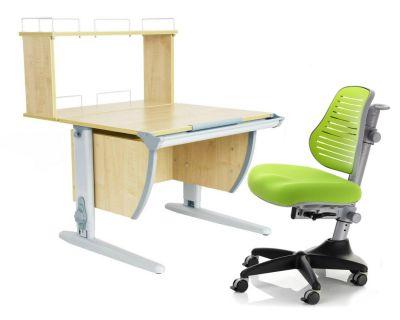 Комплект ДЭМИ Парта СУТ 14-01Д с креслом Conan и прозрачной накладкой на парту 65х45