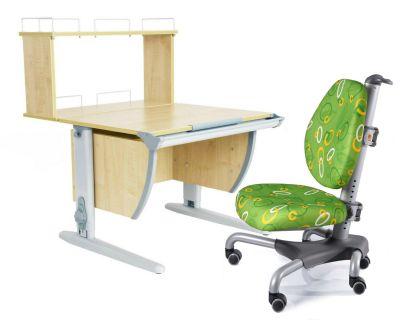 Комплект ДЭМИ Парта СУТ 14-01Д с креслом Nobel и прозрачной накладкой на парту 65х45