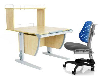 Комплект ДЭМИ Парта СУТ 14-01Д с креслом Oxford C3 и прозрачной накладкой на парту 65х45