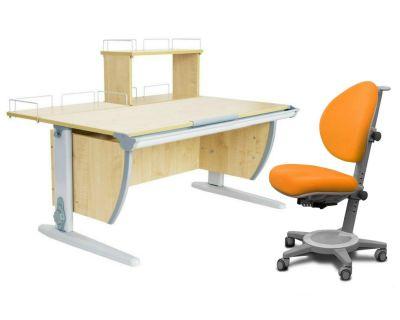 Комплект ДЭМИ Парта СУТ 15-01Д с креслом Cambridge и прозрачной накладкой на парту 65х45