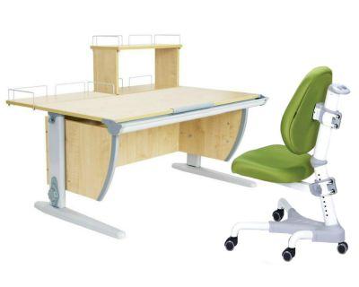 Комплект ДЭМИ Парта СУТ 15-01Д с креслом Champion и прозрачной накладкой на парту 65х45