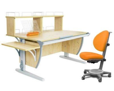 Комплект ДЭМИ Парта СУТ 15-02Д2 с креслом Cambridge и прозрачной накладкой на парту 65х45