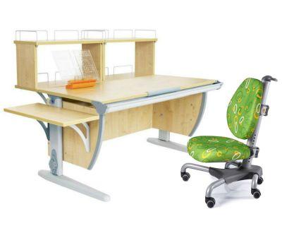Комплект ДЭМИ Парта СУТ 15-02Д2 с креслом Nobel и прозрачной накладкой на парту 65х45