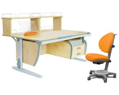 Комплект ДЭМИ Парта СУТ 15-04Д2 с креслом Cambridge и прозрачной накладкой на парту 65х45
