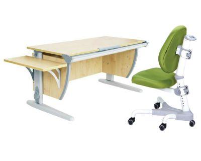 Комплект ДЭМИ Парта СУТ 15К с креслом Champion и прозрачной накладкой на парту 65х45
