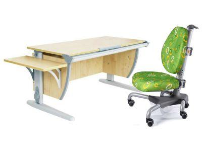 Комплект ДЭМИ Парта СУТ 15К с креслом Nobel и прозрачной накладкой на парту 65х45