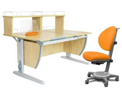 Комплект ДЭМИ Парта СУТ 17-01Д2 с креслом Cambridge и прозрачной накладкой на парту 65х45