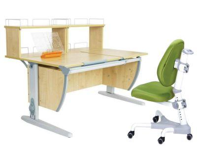 Комплект ДЭМИ Парта СУТ 17-01Д2 с креслом Champion и прозрачной накладкой на парту 65х45