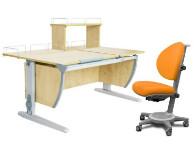 Комплект ДЭМИ Парта СУТ 17-01Д с креслом Cambridge и прозрачной накладкой на парту 65х45