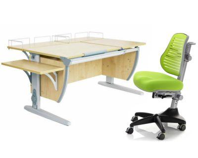 Комплект ДЭМИ Парта СУТ 17-02 с креслом Conan и прозрачной накладкой на парту 65х45