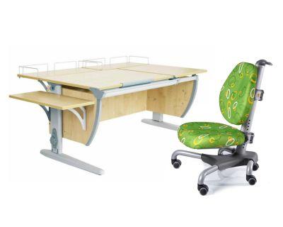 Комплект ДЭМИ Парта СУТ 17-02 с креслом Nobel и прозрачной накладкой на парту 65х45